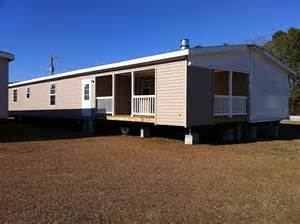 Double Wide Mobile Home with Porch