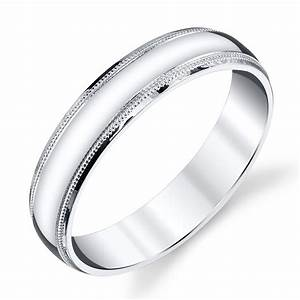 925 Sterling Silver Mens Wedding Band Ring 5mm Classic