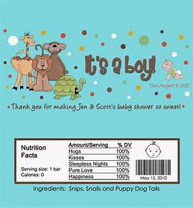 wonderful safari jungle animals baby shower boy candy bar With baby shower candy wrappers templates free