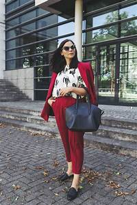 Aktuelle Modetrends 2017 : herbst outfit mit rotem hosenanzug und just female tunika fashion bloggers ootd ~ Frokenaadalensverden.com Haus und Dekorationen