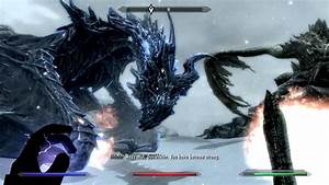 Skyrim  Alduin And Paarthurnax At The Throat Of The World