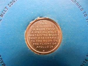 1971 Franklin Mint Apollo 14 Mini Silver Coin