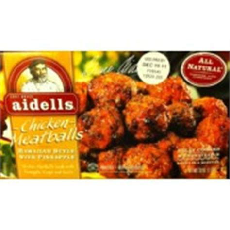aidells meatballs chicken hawaiian style  pineapple