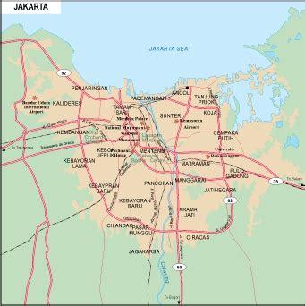 jakarta vector map eps illustrator vector maps  asia