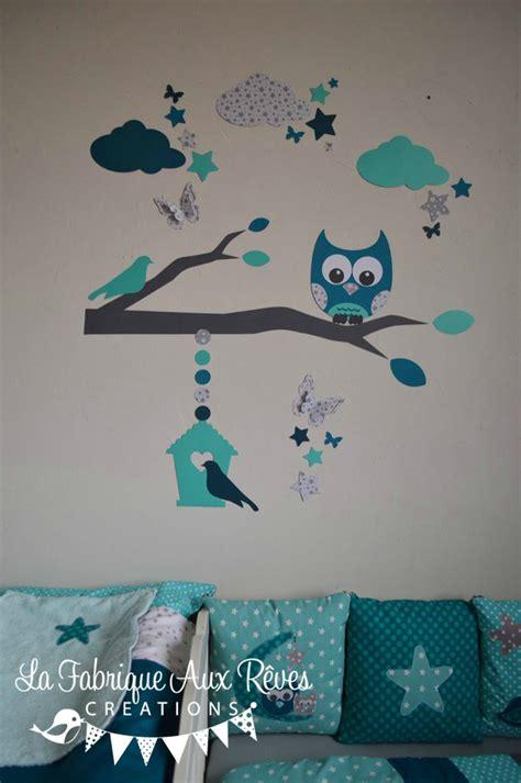 stickers hibou chouette décoration chambre enfant bébé