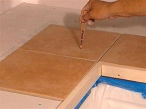 Installing 12x12 Granite Tile Countertop by How To Install Tiles On A Kitchen Countertop How Tos Diy
