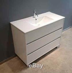 meuble de salle de bain 100 cm blanc avec evier With salle de bain design avec evier céramique blanc