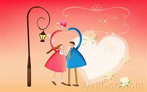 Cute Cartoon Characters In Love