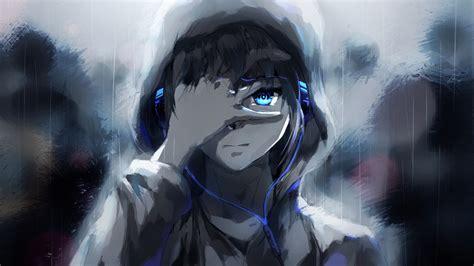2560x1440 Anime Wallpaper - 2560x1440 anime boy hoodie blue