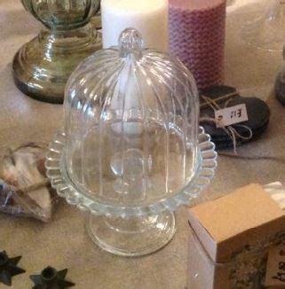 mini italian glass cake stand  dome