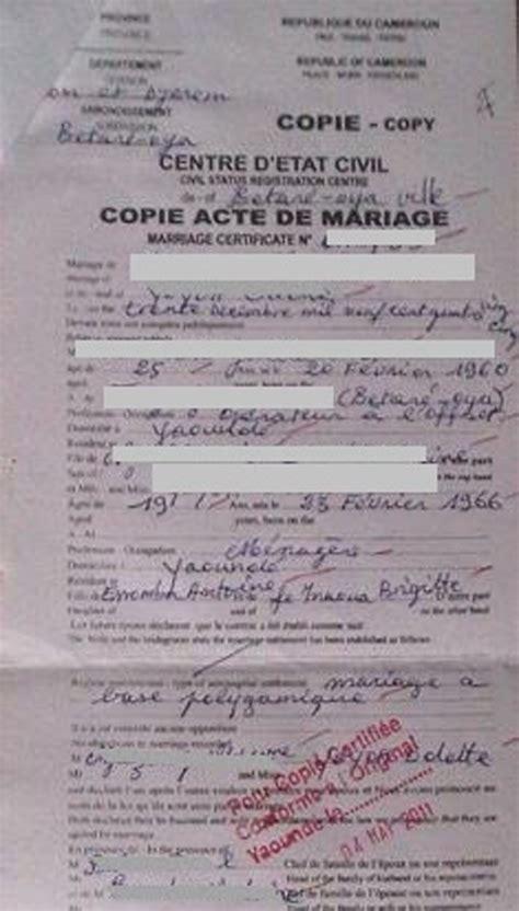 bureau des fraudes vers la fin des fraudes des actes d 39 état civil camerounais