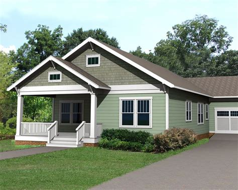 plan ph cozy bungalow  attached garage bungalow house plans garage house plans