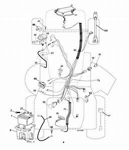 Husqvarna Lth1842 Twin  96041005300  Ride On Mower Electrical Spare Parts Diagram
