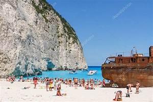 Zakynthos Grce 01 Juin Plage De Touristes La Baie
