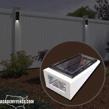 solar lights for fence vinyl fence solar light 187 fencing