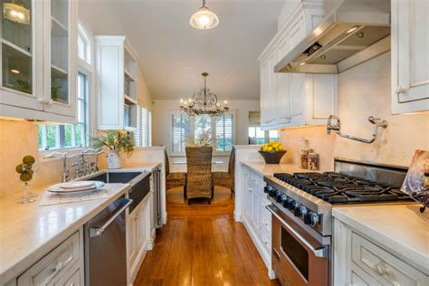 galley style kitchen with island top 30 galley kitchen with island and pictures