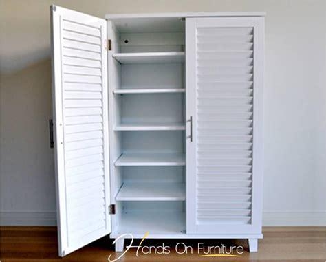 Louvre Door Cupboards brand new white louvre door 36 pairs shoe storage cabinet