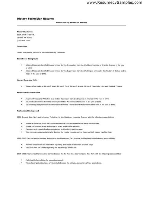 dietitian assistant resume 28 images cover letter for