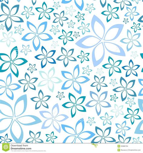 simple blue floral seamless pattern stock images image