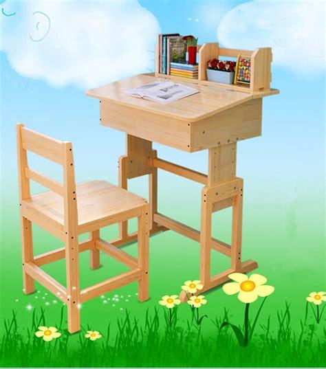 shipping factory direct children kids wooden study table  chair set study desk set