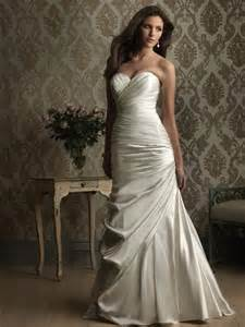 fitted wedding gowns stunning satin sweetheart fitted sheath wedding dresses prlog