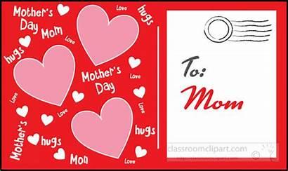 Postcard Clipart Mothers Mom Holidays Transparent Medium