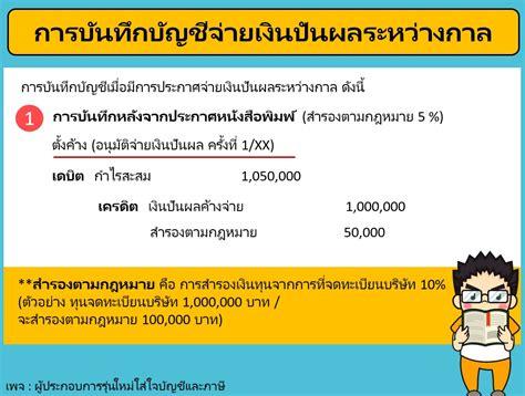 การจ่ายเงินปันผล | KKN Accounting รับทำบัญชี, รับตรวจสอบ ...