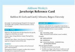37 must have cheat sheets and quick references for web With pdf document javascript