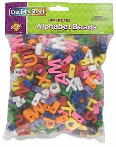 Creativity street shaped alphabet beads blick art materials for Letter shaped beads