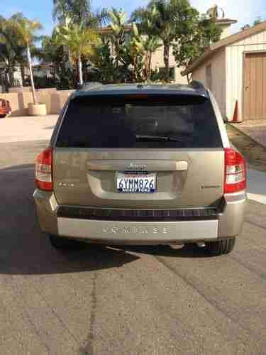 Purchase Used Jeep Compass Limited 2007 4d 4wd Excellent