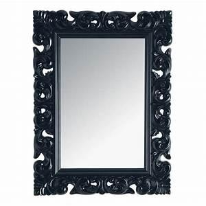 Miroir Baroque Noir : miroir rivoli noir 120x90 maisons du monde ~ Teatrodelosmanantiales.com Idées de Décoration