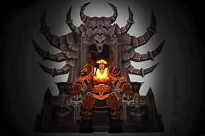 Sargeras on throne by Vaanel on DeviantArt