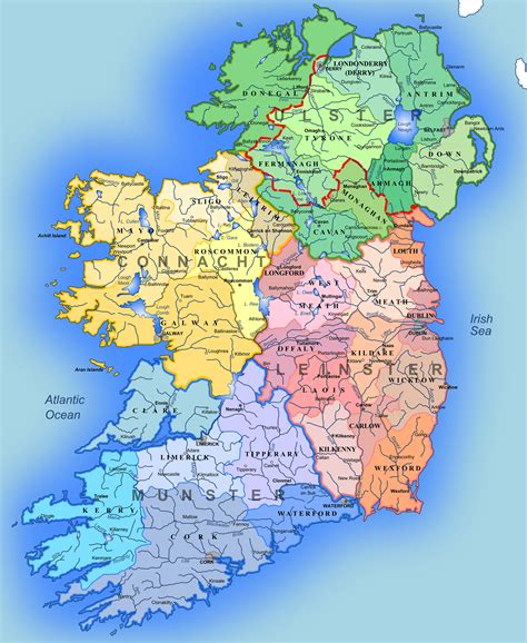 maps  ireland detailed map  ireland  english