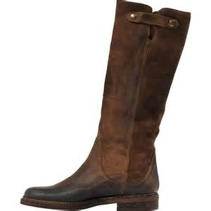 irene brown quot cuoio quot suede tall flat boots paolo shoes