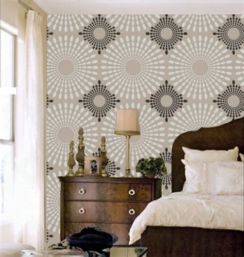 wall stencil designs bring colour into your home 50 wall patterns fresh