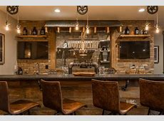 indianapolis basement wet bar design rustic with home