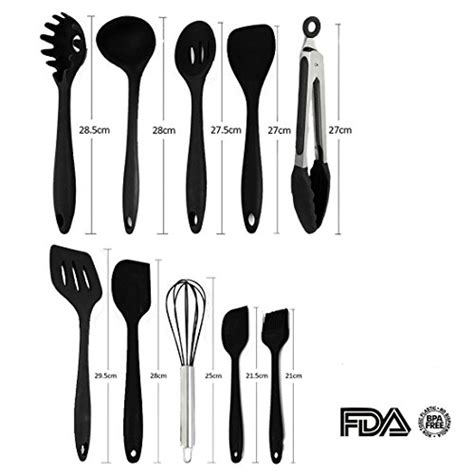 utensils cooking kitchen utensil cookware nonstick tools silicone called piece