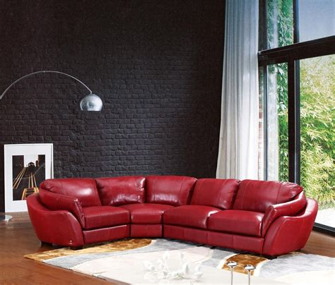 dark red leather sofa red sectional leather sofa living room decorating ideas