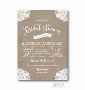 vintage lace rustic bridal shower invitation shabby chic With free printable vintage wedding shower invitations