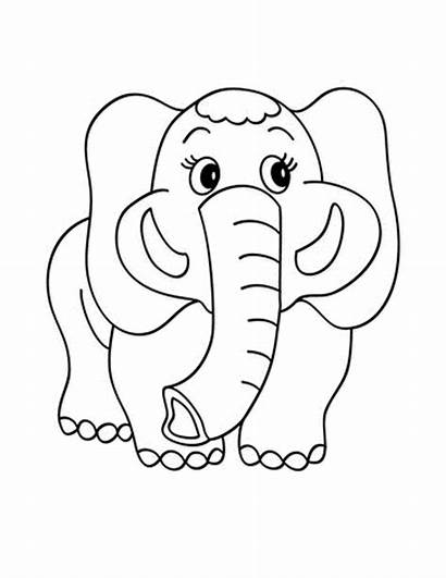 Coloring Eyes Pages Elephant Printable Animals Eye