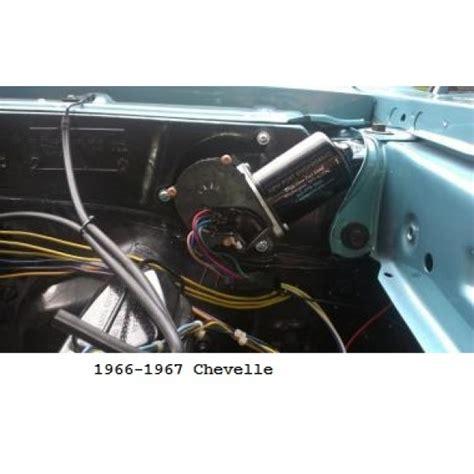 port engineering  volt windshield wiper motor  chevy chevelles