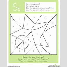 Color By Letter Capital And Lowercase S  S  Lettering, Letter S Crafts, Letter S Activities