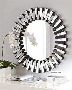 Home decor silver round mirror wall