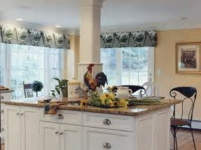 window treatments for kitchen french country rooster