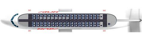 ATR 72-600 map - 72 seats