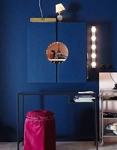 Ouvrir Un Capot De L Exterieur : armoire ivar transform e en coiffeuse peinte en rose l 39 int rieur et en bleu l 39 ext rieur ~ Medecine-chirurgie-esthetiques.com Avis de Voitures