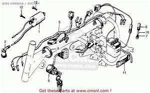 Honda Z50a Mini Trail K2 Usa Wire Harness    Battery