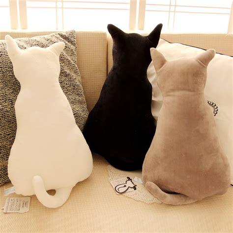 cat pillow 45cm creative cute cat silhouette cushions plush toy doll cat silhouette shadow cat pillow