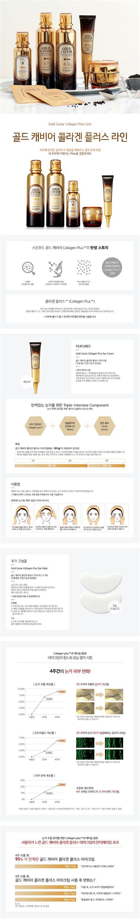 skinfood gold caviar collagen  eye cream korean