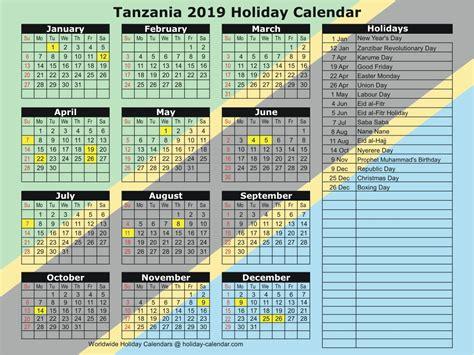 tanzania holiday calendar